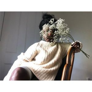 Vintage Handmade knitted Chunky oversized sweater